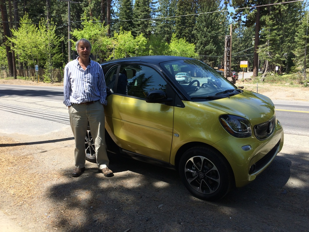 Yours truly with my new smart car!