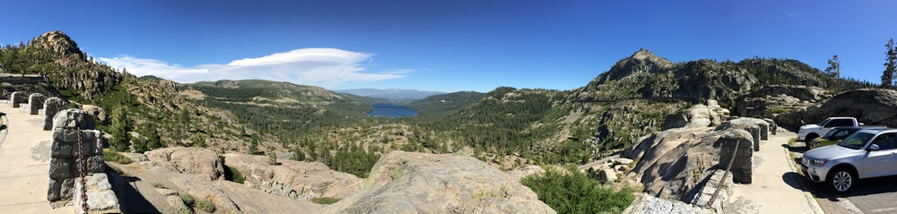 Panorama looking East towards Donner Lake