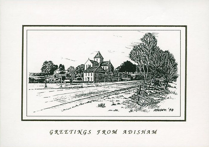 A woodcut by Harry when he and Croianna first moved to Adisham.