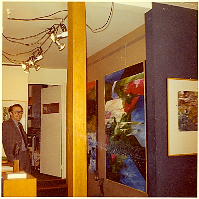 "Harry, ""Design Executants"" Front room gallery, 5 Campden Street, Kensington - 1964"