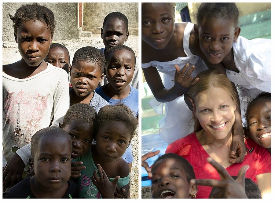 The photo on the left was taken two years ago. The photo on the right was from our January trip to Cité Soliel, Haiti.