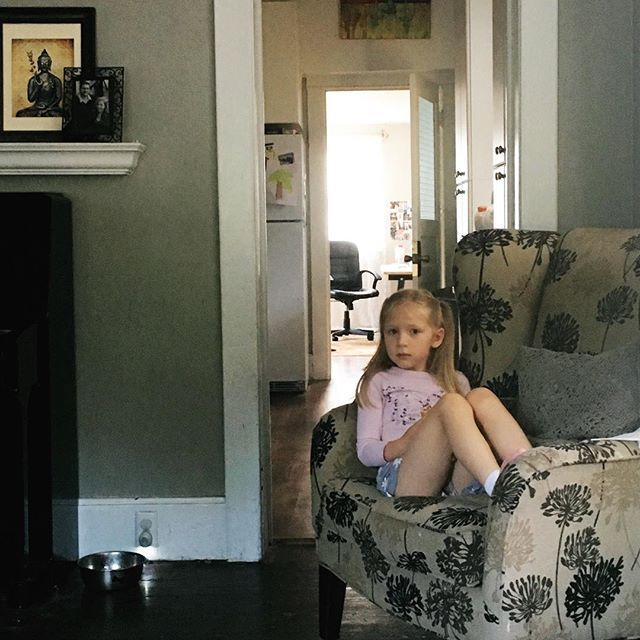 My #dailyabundance was sitting with my blondie in the morning light, talking before she left for school for the day. - I tried to have her start going half days to kindergarten, but she wasn't having any of that. She loves it! - And I love having a girl who's so passionate. She's already inspiring me. 😊
