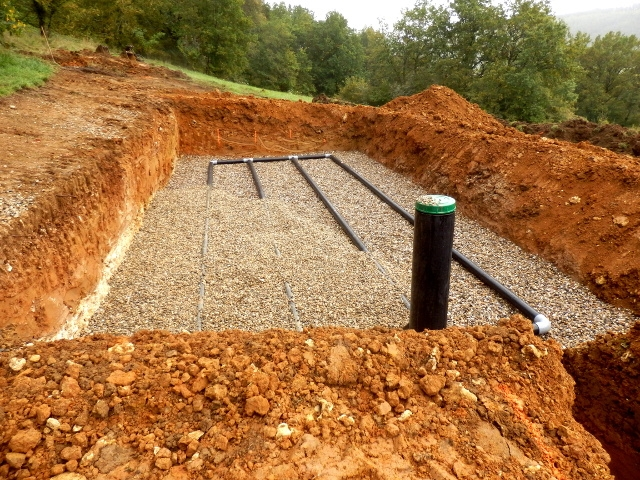 septic system design -
