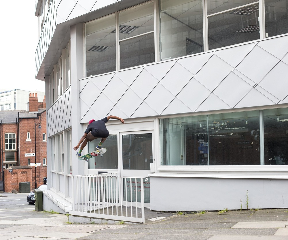 Shaun Currie - kickflip from windowsill