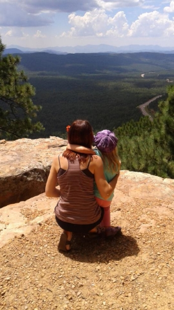 Blue and daughter overlooking Rim.jpg