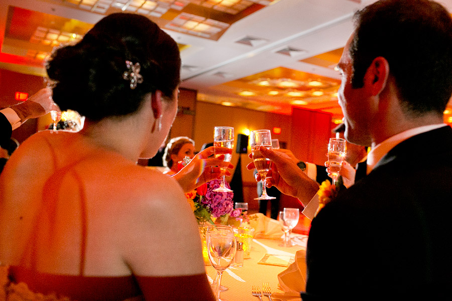 toast at charles hotel wedding reception