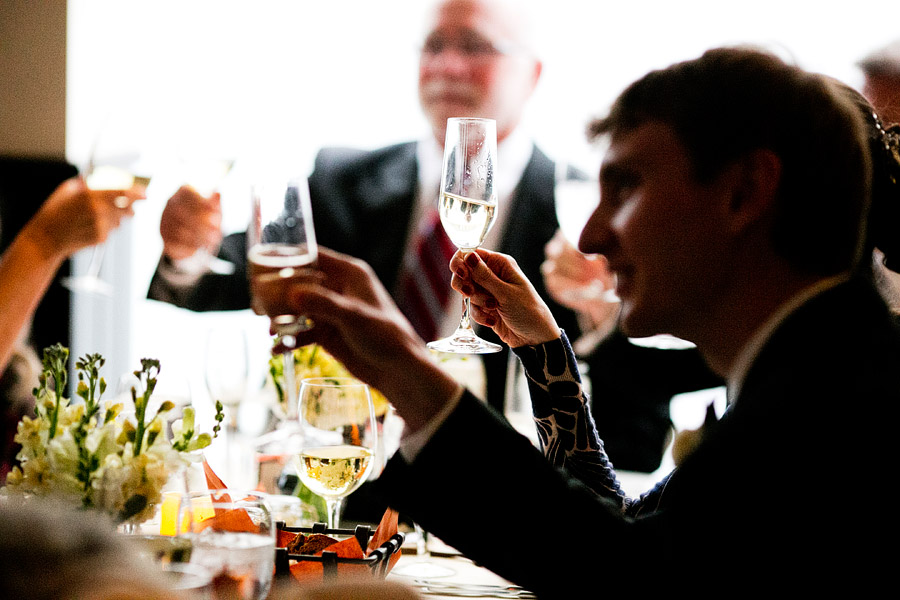 champagne toast wedding cambridge ma