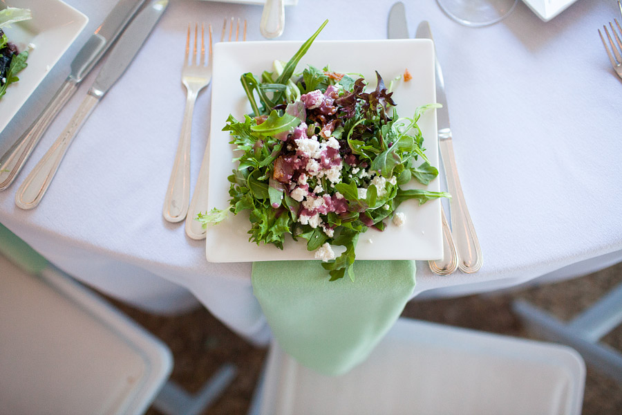 Salad at Misslewood Estate Wedding