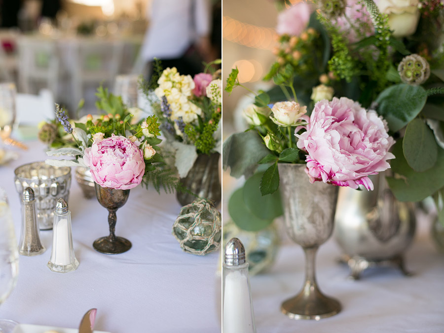 Pink Flowers at Misslewood Estate Wedding