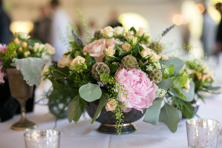 Center Pieces at Misslewood Estate Wedding