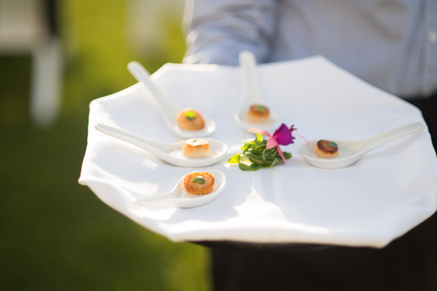 caterer at Shelter Harbor Golf Club Wedding