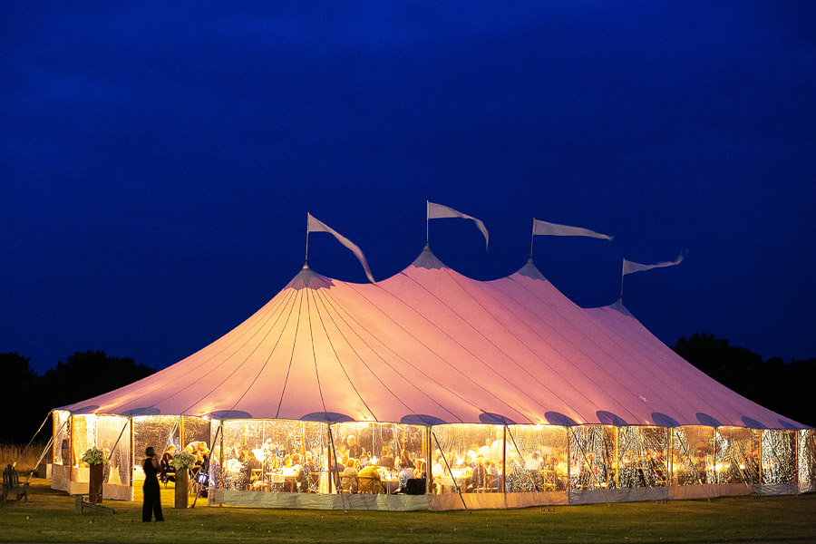 Sperry Tent at Laudholm Farm Wedding