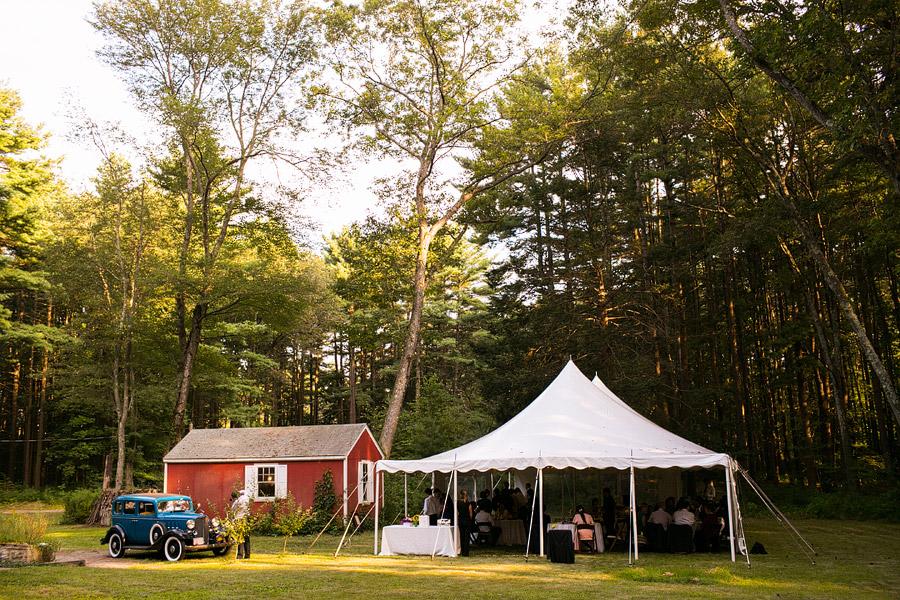 New England Back Yard Wedding Reception