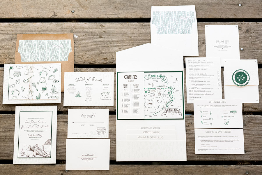 Sandy Island Camp Wedding Invitation