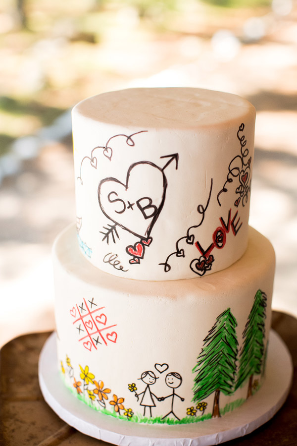 Sandy Island Camp Wedding Cake