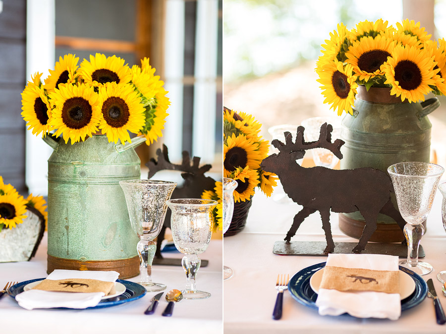 Sandy Island Camp Wedding Center Piece