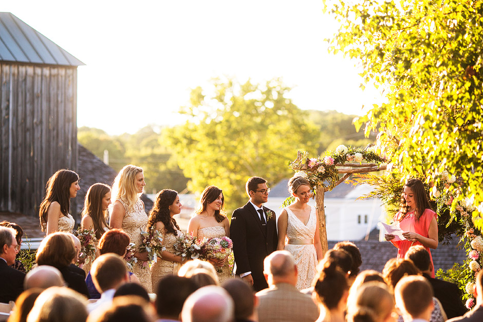 Red Lion Inn Wedding Ceremony Photographs