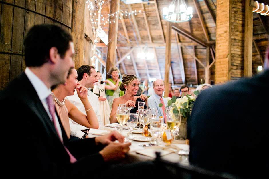 the inn at the round barn wedding decor