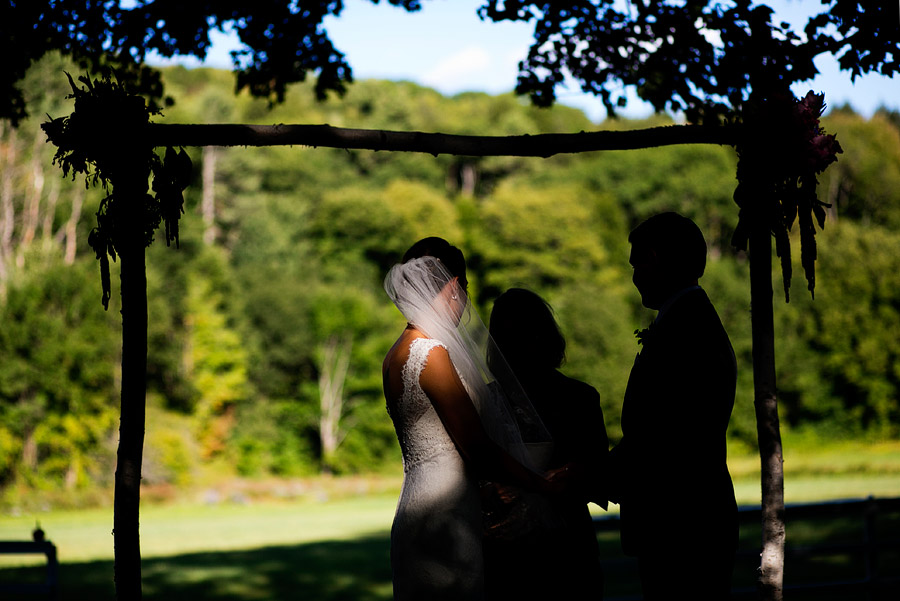 Quechee Inn wedding ceremony