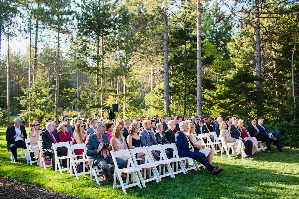 Hidden Pond Wedding Maine Garden Ceremony