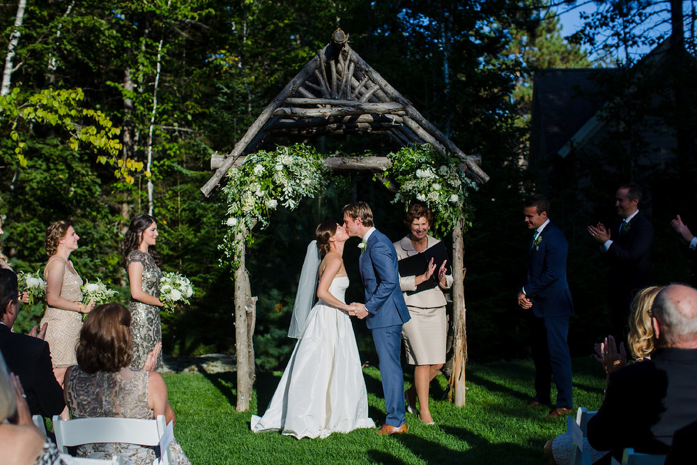 Hidden Pond Wedding Arch