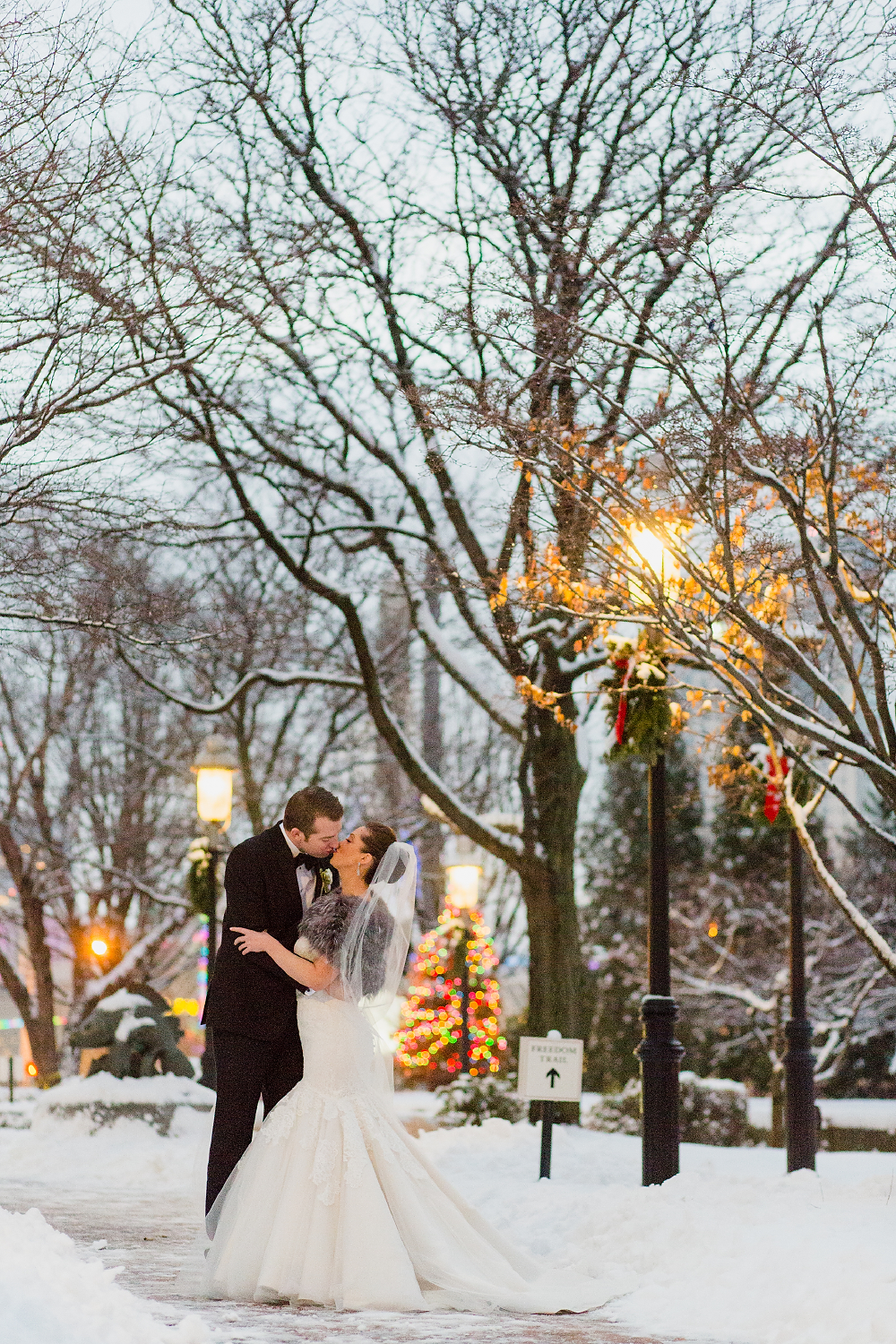 Omni Parker Hotel Winter Wedding