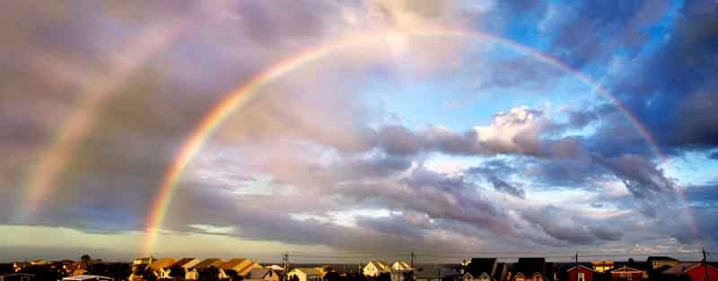 Double Rainbow without Rain