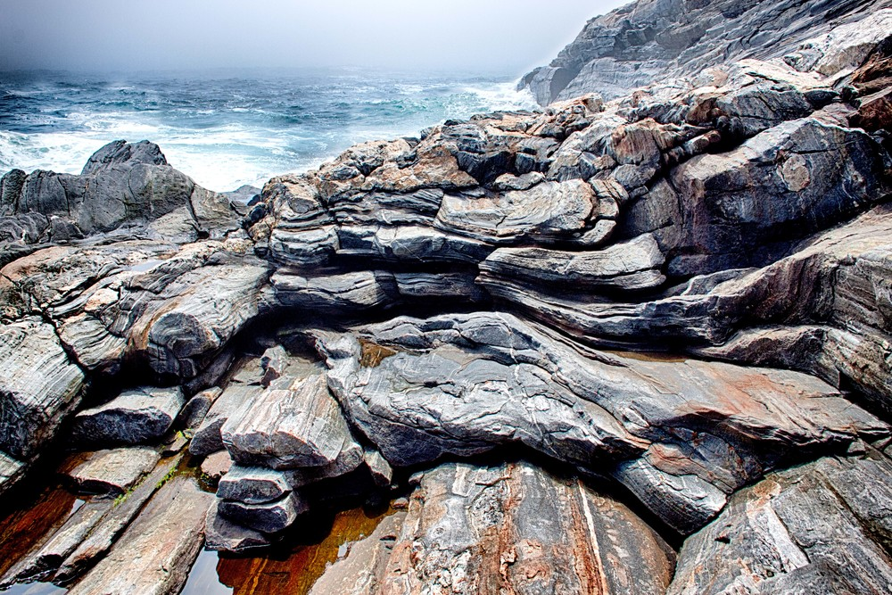 Pemaquid Point Dramatic Rocks