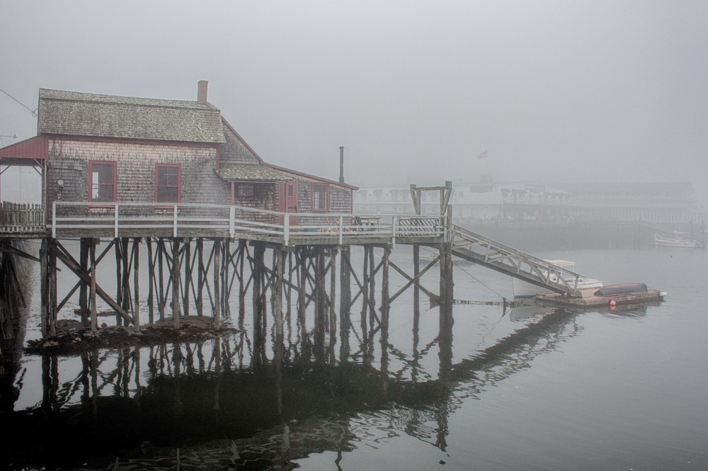 Fogged-in Pier