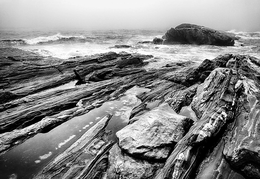Pemaquid Rocks in the Fog