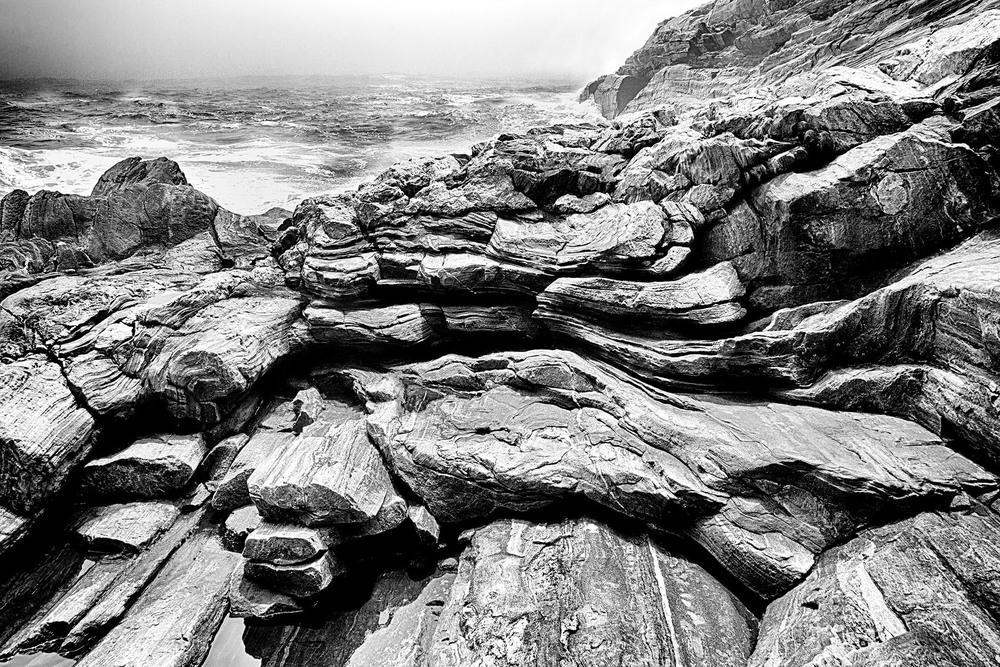 Pemaquid Rocks by the Surf