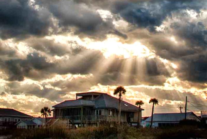 """""""Sunrays Break Through Dark Clouds""""                      Carol K. Walsh"""