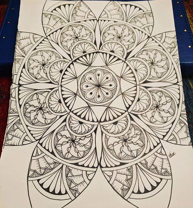 Mandala love! #zentangle #lovezen #zendoodle  #zenart #artgallery #artstagram #inkartist #ink #freehand #sketch #instartpics #instagram #mandalas #mandala #mandalamaze #mandalauniverse #mandalala #zen #drawing #colors #zendala #artistoninstagram #mandalalala