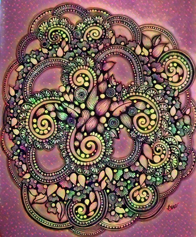 Random doodles are always fun!  #zentangle #lovezen #zendoodle  #zenart #artgallery #artstagram #inkartist #ink #freehand #sketch #instartpics #instagram #mandalas #mandala #mandalamaze #zentanglekiwi  #mandalauniverse #mandalala #zen #drawing #colors #zendala #artistoninstagram