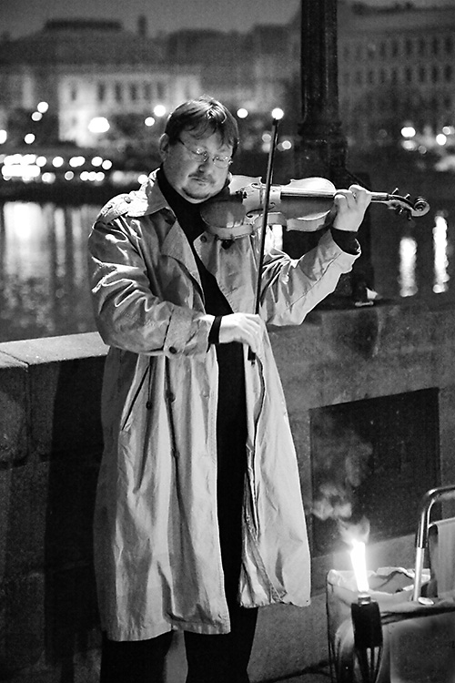 Charles Bridge Violinist, Prague, Czech Republic 2012