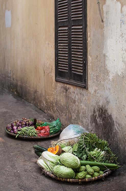 Vegetables in Alley, Hanoi, Vietnam 2013