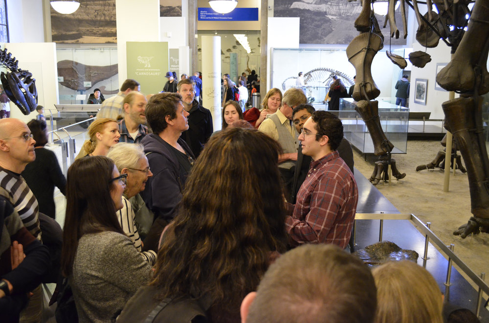 Jan 26 - Tour of Dinosaur Hall with paleontologist James Napoli at the American Museum of Natural History