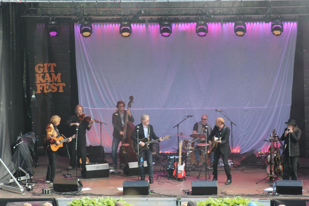 Gitarkameratne; Jan Eggum, Øystein Sunde, Halvdan Sivertsen og Lillebjørn Nilsen.