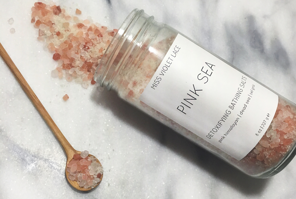 Miss Violet Lace PINK SEA Detoxifying Bathing Salts