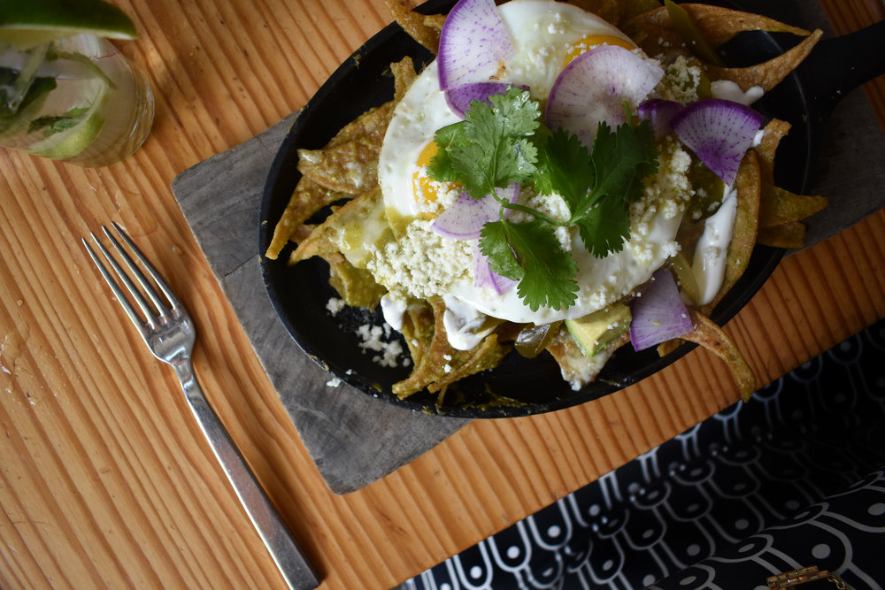 Insanely good Chilaquiles at La Condesa in Austin, TX