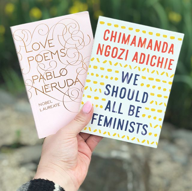 required reading 📘 #pabloneruda #chimamandangoziadichie #feminism #love