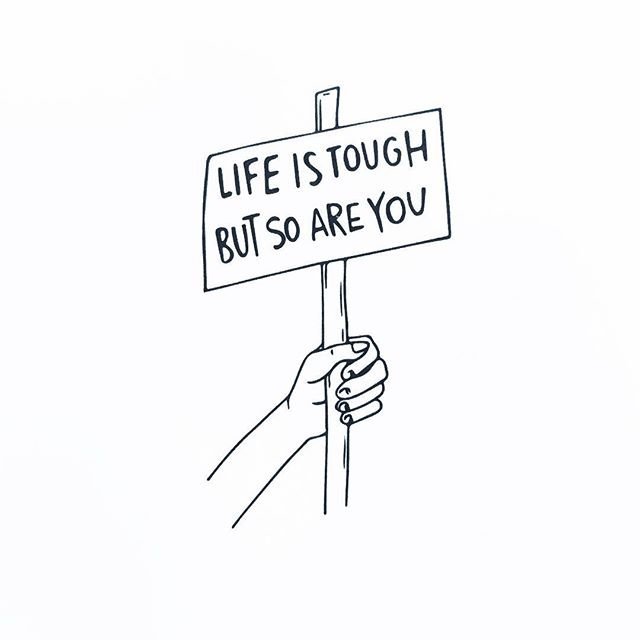 #motivation & #illustration by fellow #chronicpain warrior @lj_dyer ✊