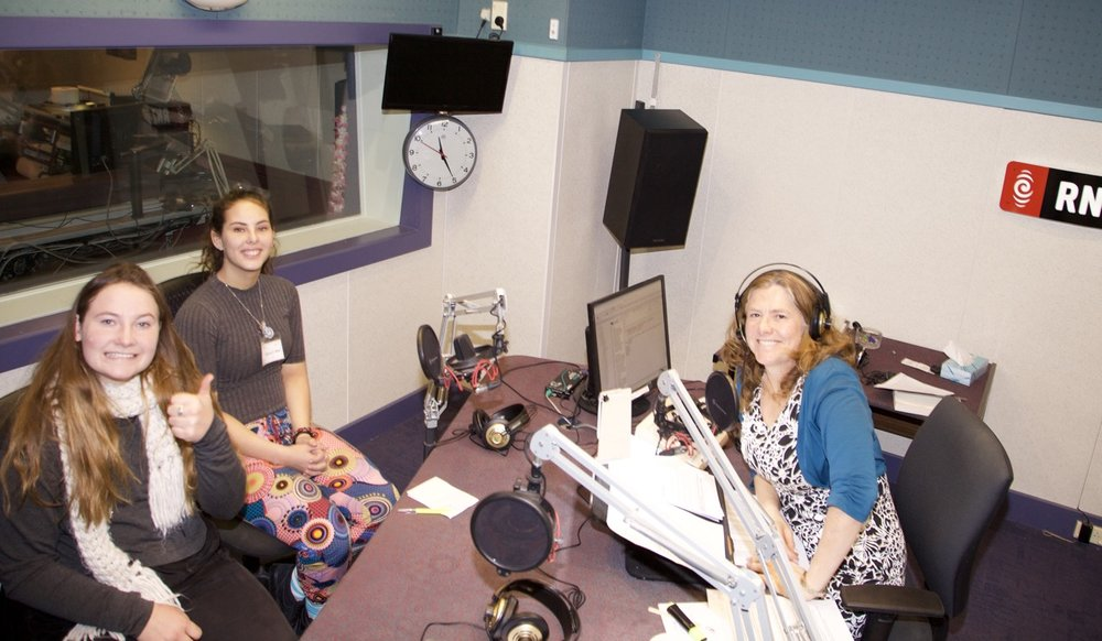 Pepi Griffiths and Alyssa Cribb are both Chief Sustainability Officers for their respective businesses in the Moana Restoration group. Here they are being interviewed by Katherine Ryan from Radio New Zealand about participating in the Papa Taiao Moana Restoration programme.