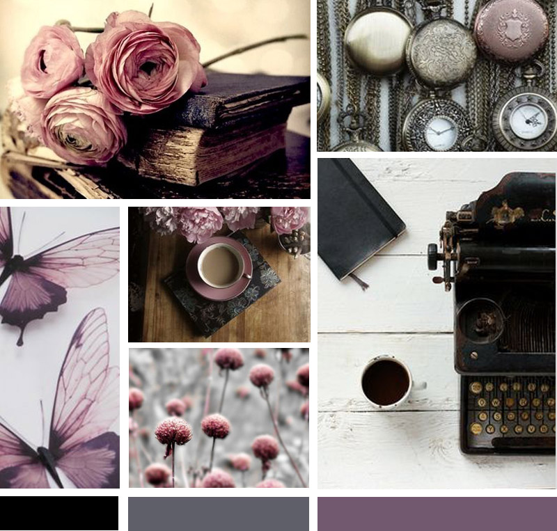 Custom Black Butterfly Moodboard