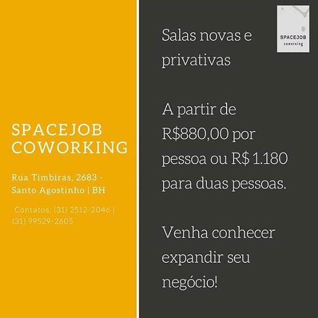 Conheça o nosso espaço e aproveite os preços promocionais. Agende uma visita por e-mail contato@spacejob.com.br ou pelo número (31) 2512-2046. #SpaceJobCoworking #Coworking #Networking #Negocio #EspacoIndividual