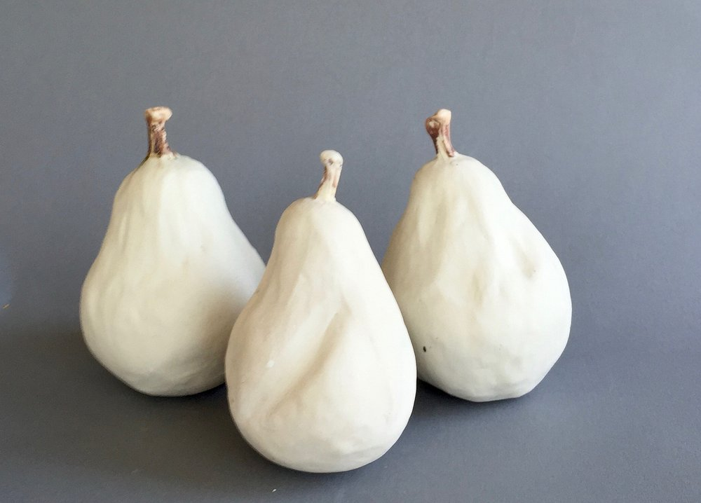 Three White Pears