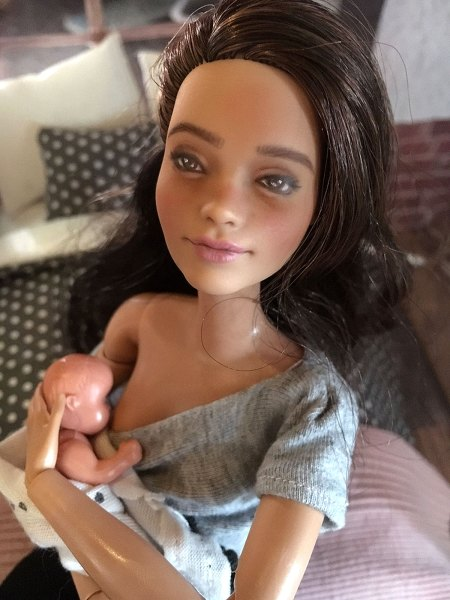 Breastfeeding barbie doll etsy