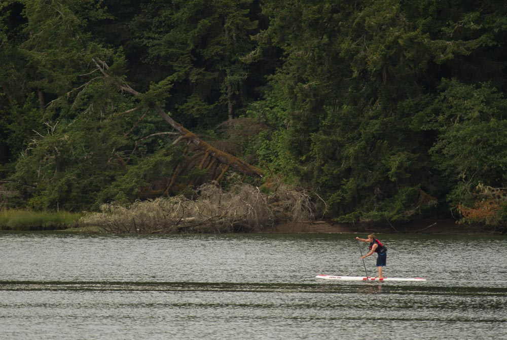 Paddling the Yaquina River