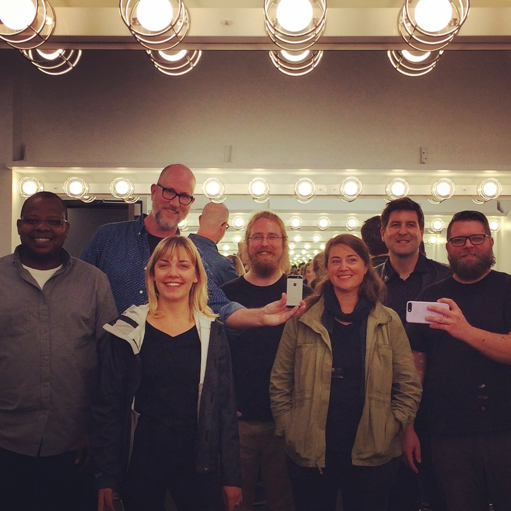 Post-show infinity mirror self portrait (missing: Anna Roberts-Gevalt). Such a great ensemble of musicians!