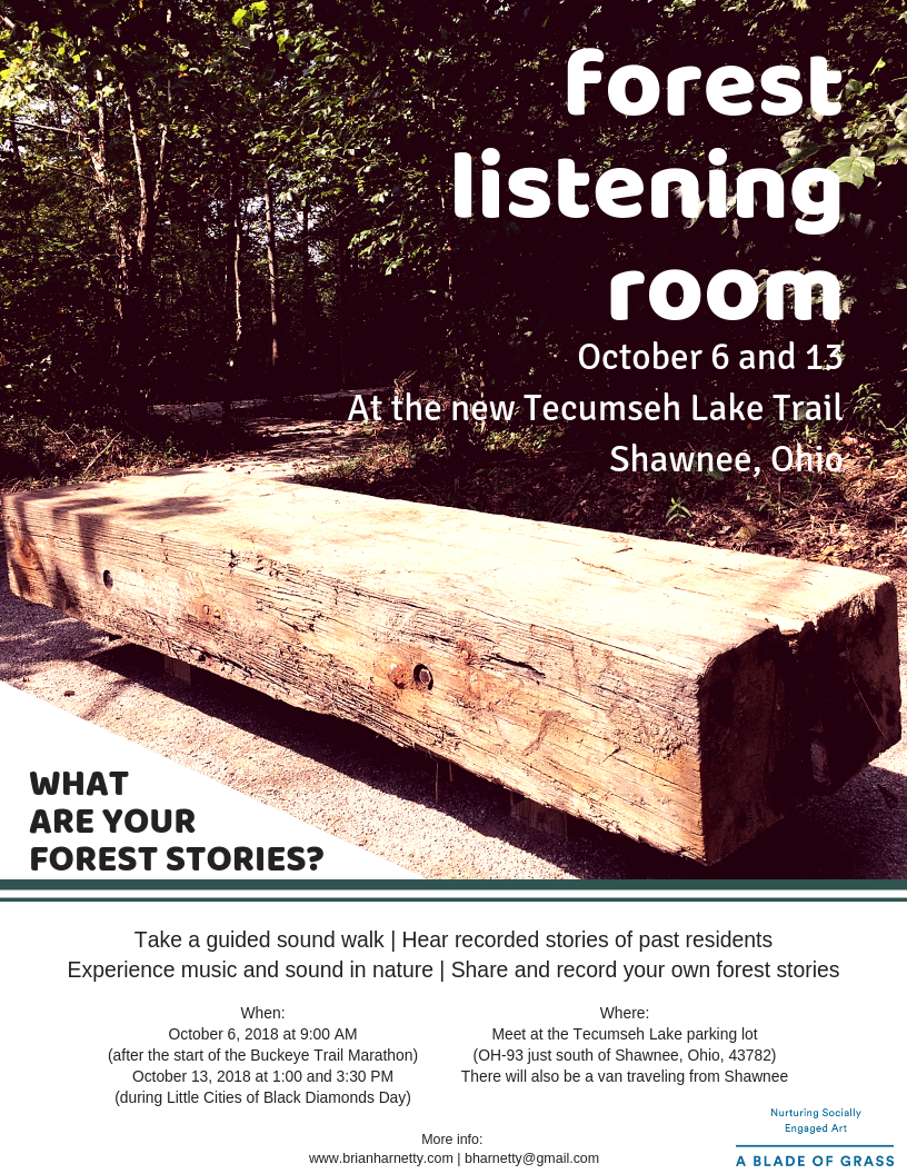 The poster for listening events in October, 2018.